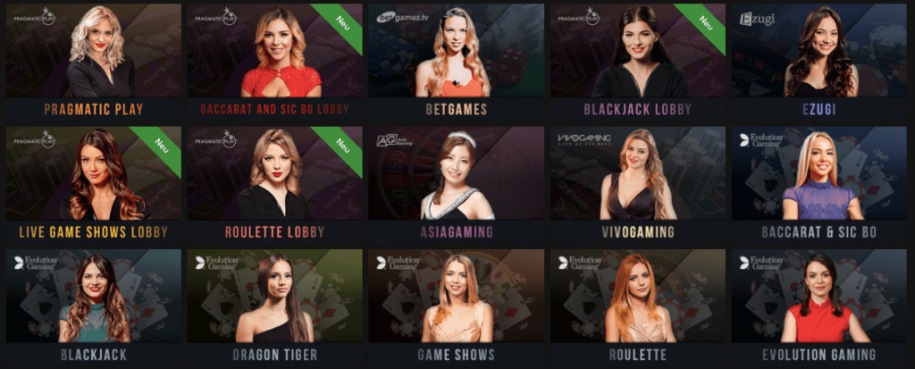 Live casino with multiple games in the collection: pick something for you