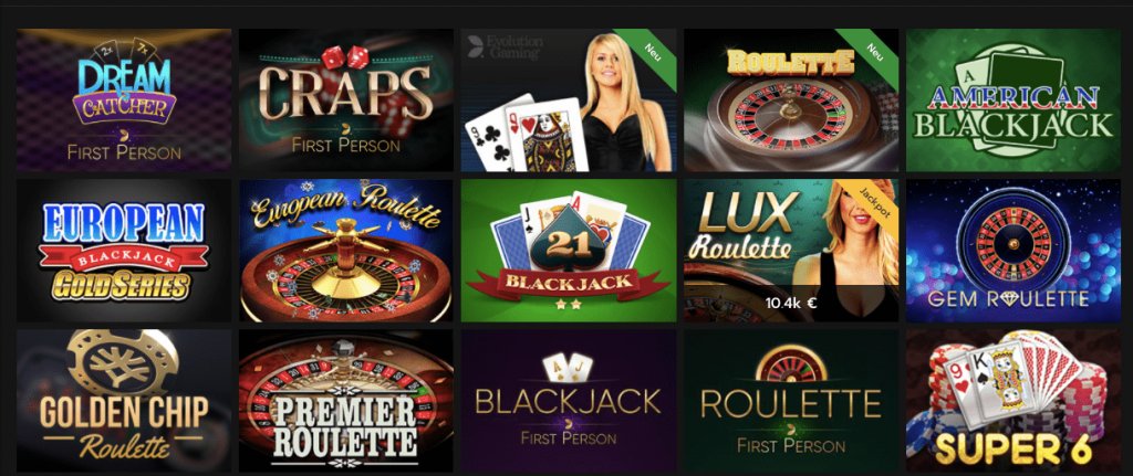 With several variants to play with, you will love the live casino!
